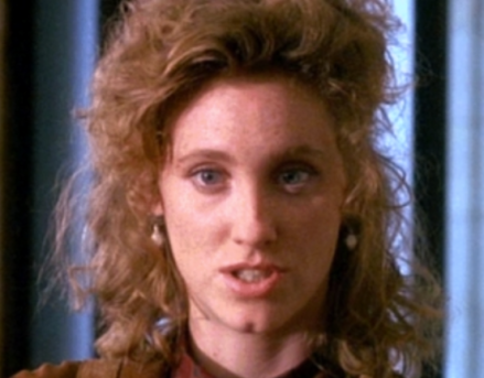 Here's Judith Hoag making a funny face.